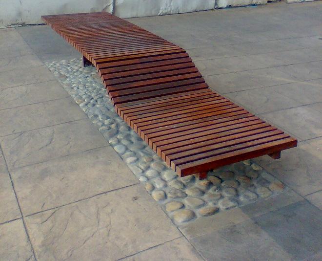 Puentes y senderos plasticos - Muebles de teca para jardin ...