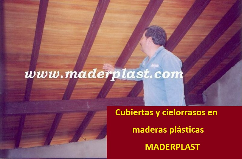 Carpinter a ebanister a con maderas pl sticas wpc for Techos de madera economicos