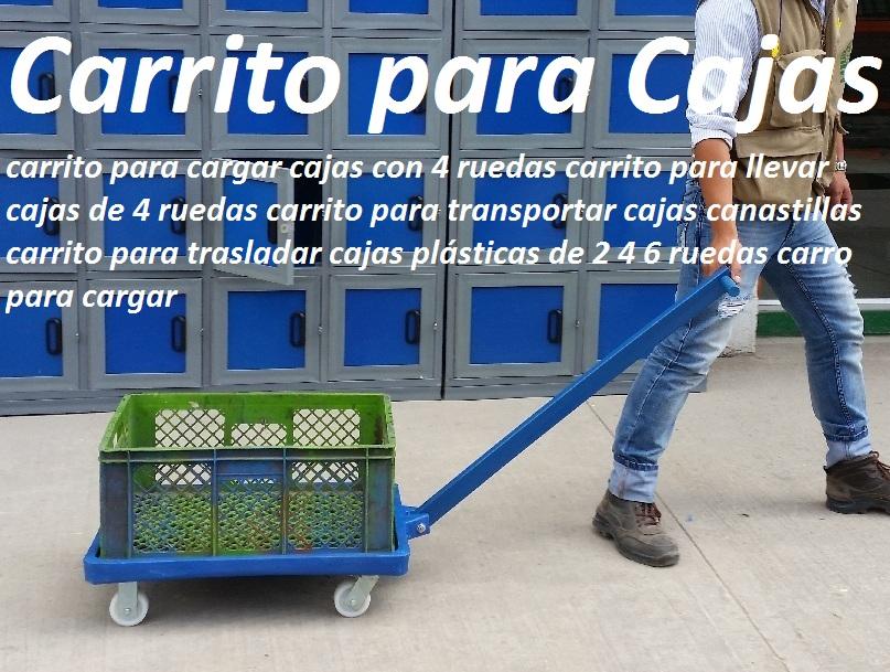 22 carretillas industriales carretas remolques carros 2 4 for Cajas plasticas con ruedas
