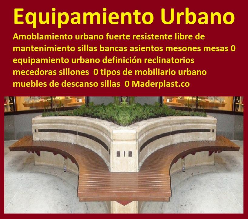 17 mesa y sillas para exteriores pl sticos con parasoles for Ejemplos de mobiliario urbano