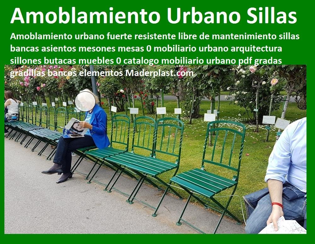 17 mesa y sillas mobiliario para exteriores pl sticos for Amoblamiento urbano