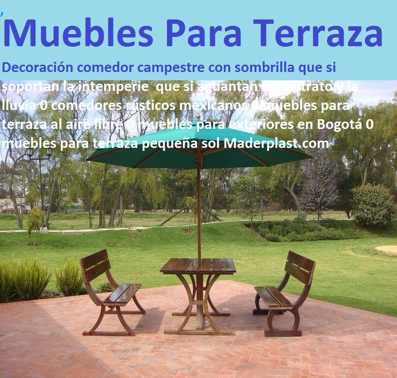 17 mesa y sillas para exteriores pl sticos con parasoles for Muebles para terraza al aire libre