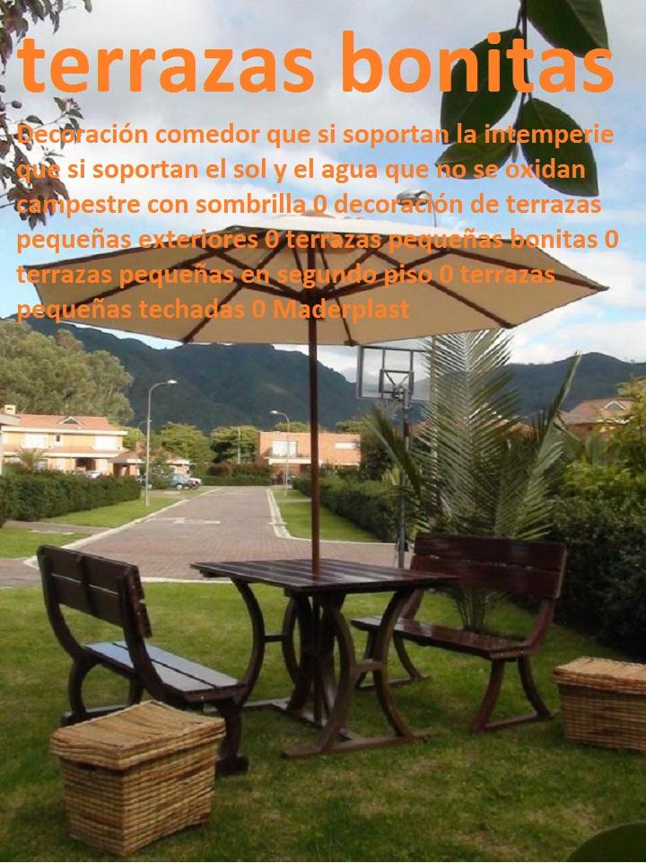 decoracin comedor campestre con sombrilla decoracin de terrazas pequeas exteriores terrazas pequeas bonitas decoracin