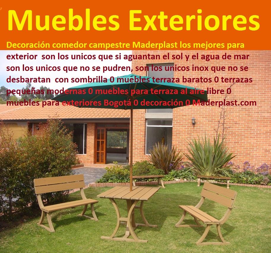 17 mesa y sillas para exteriores pl sticos con parasoles for Comedores de terraza baratos
