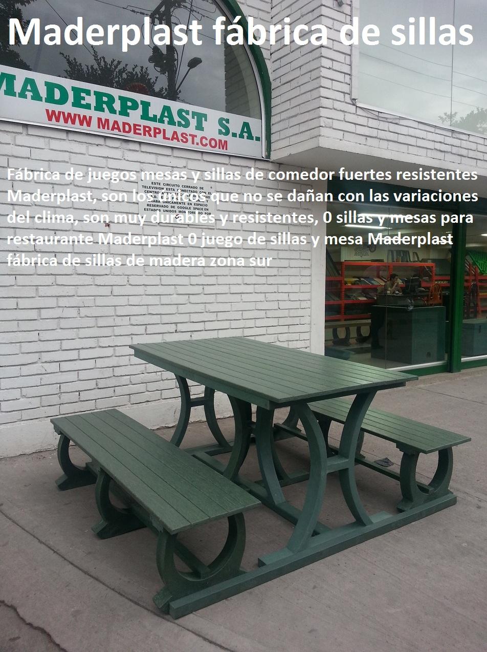 17 mesa y sillas para exteriores pl sticos con parasoles for Fabrica sillas madera