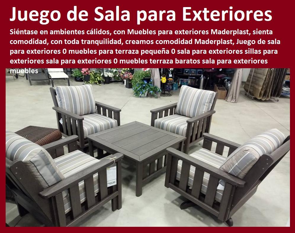17 mesa y sillas mobiliario para exteriores pl sticos for Sillones de terraza baratos