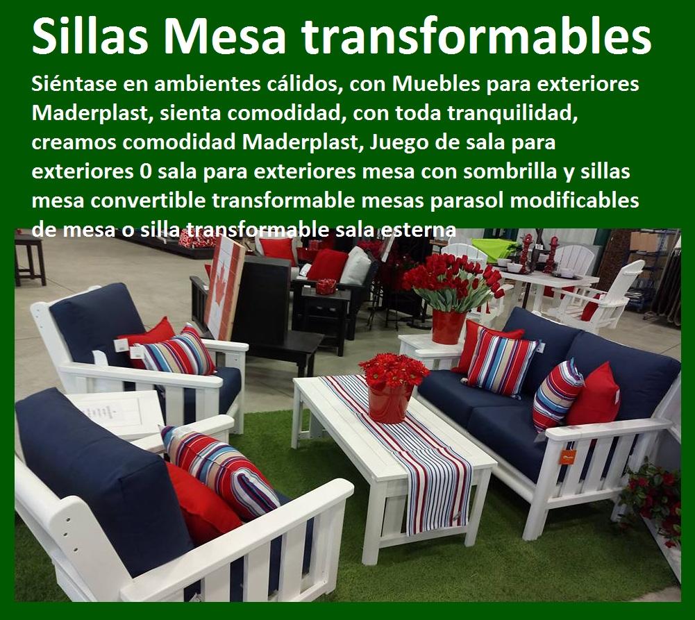 17 Mesa Y Sillas Mobiliario Para Exteriores Pl Sticos Juegos De