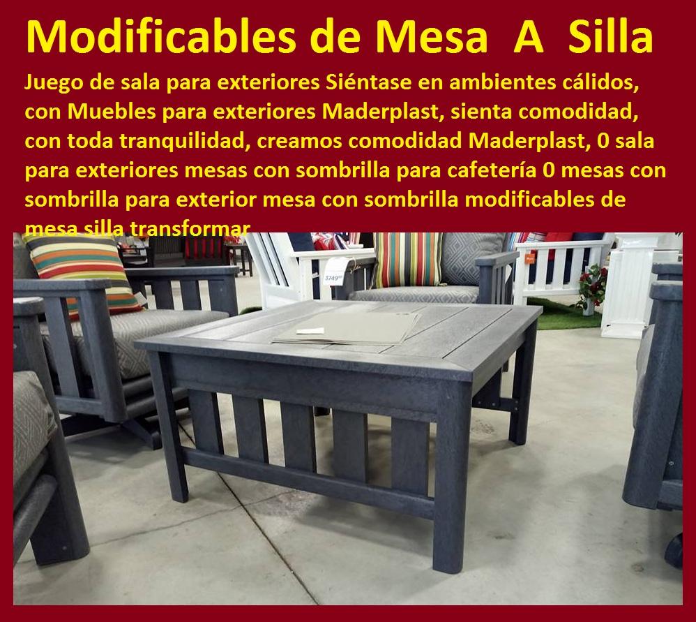 17 mesa y sillas para exteriores pl sticos con parasoles for Muebles para exterior baratos