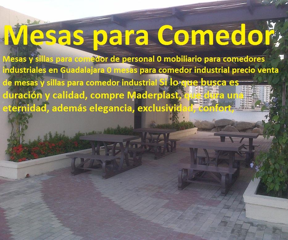 17 mesa y sillas mobiliario para exteriores pl sticos for Sillas para comedor industrial