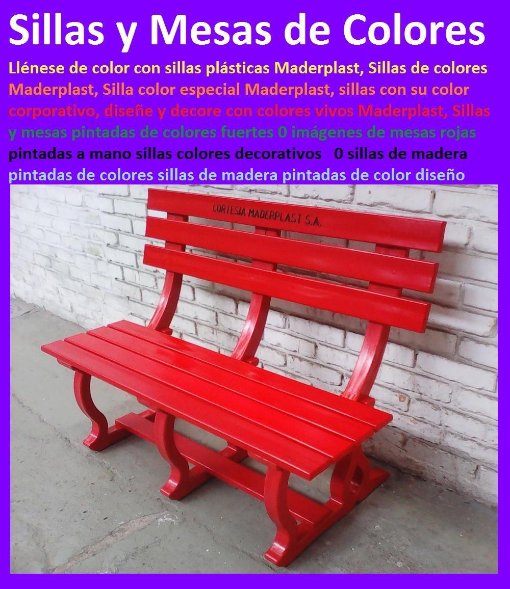 17 mesa y sillas mobiliario para exteriores pl sticos for Sillas madera colores