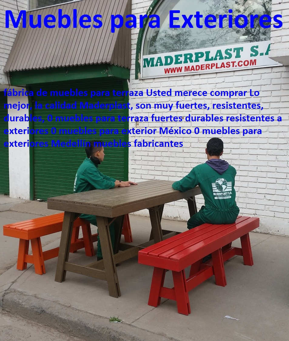 17 Mesa Y Sillas Para Exteriores Pl Sticos Con Parasoles  # Muebles Napoles Guadalajara