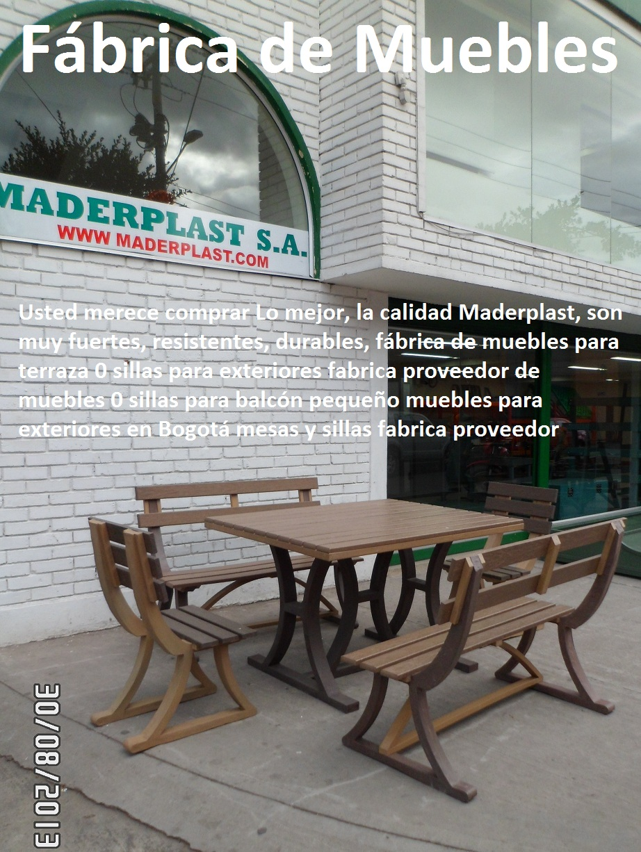 17 mesa y sillas para exteriores pl sticos con parasoles for Fabrica de muebles para exterior