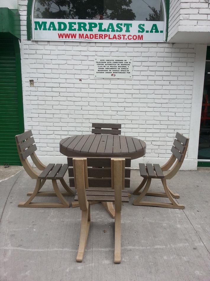 30 muebles campestres muebles para exteriores interiores - Mesas y sillas de plastico ...
