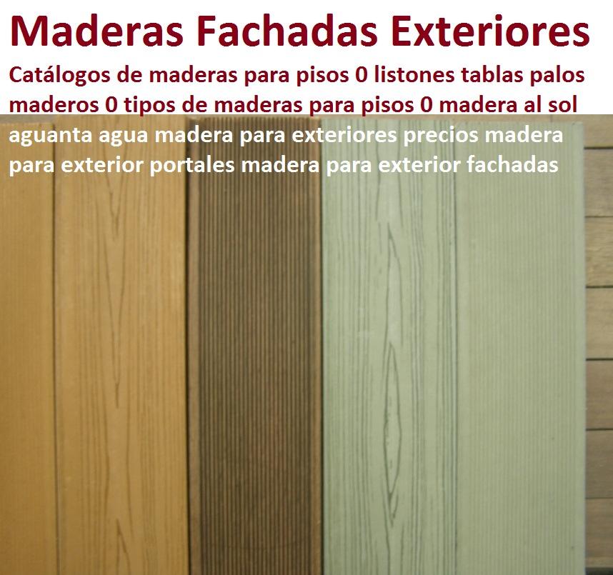 20 pisos decorativos madera pl stica finas maderas de - Madera para exteriores ...