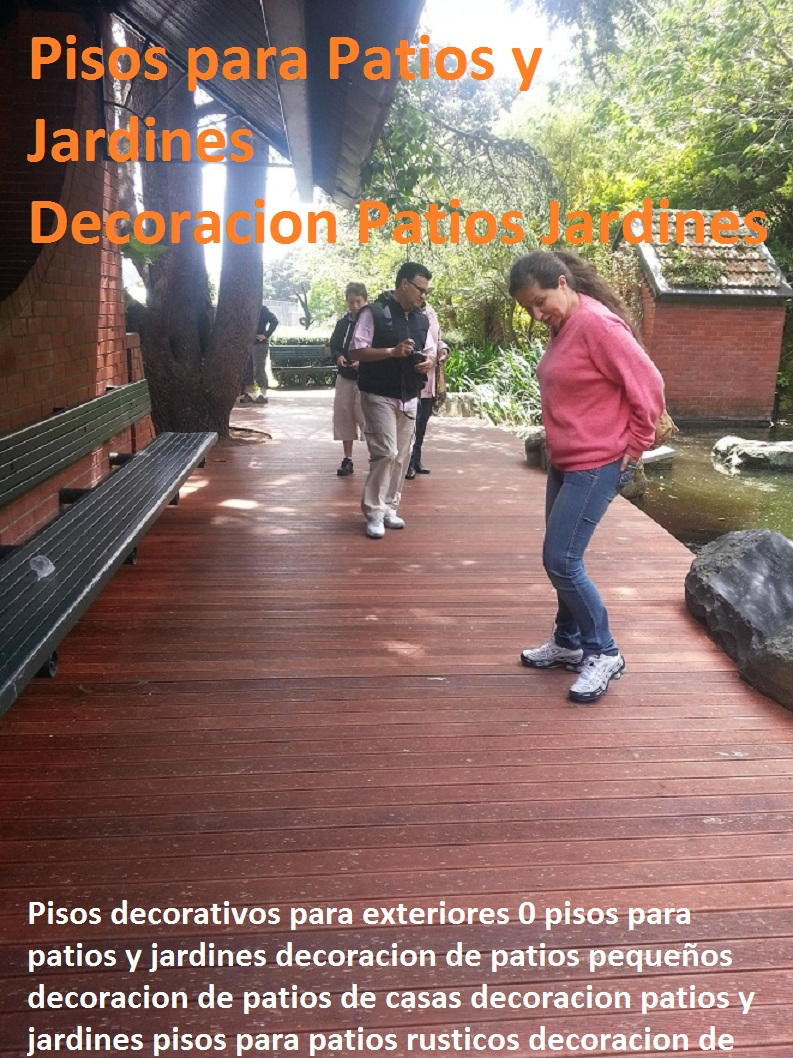 20 pisos decorativos 0 maderas pl sticas 0 finas maderas for Decoracion de patios pequenos exteriores