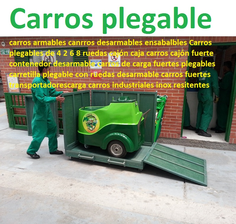 Carros plegables de 4 2 6 8 ruedas cajón caja carros cajón contenedor desarmable 0 carros de carga plegables carretilla plegable con ruedas desarmable carros transportadorescarga carros industria maderplast