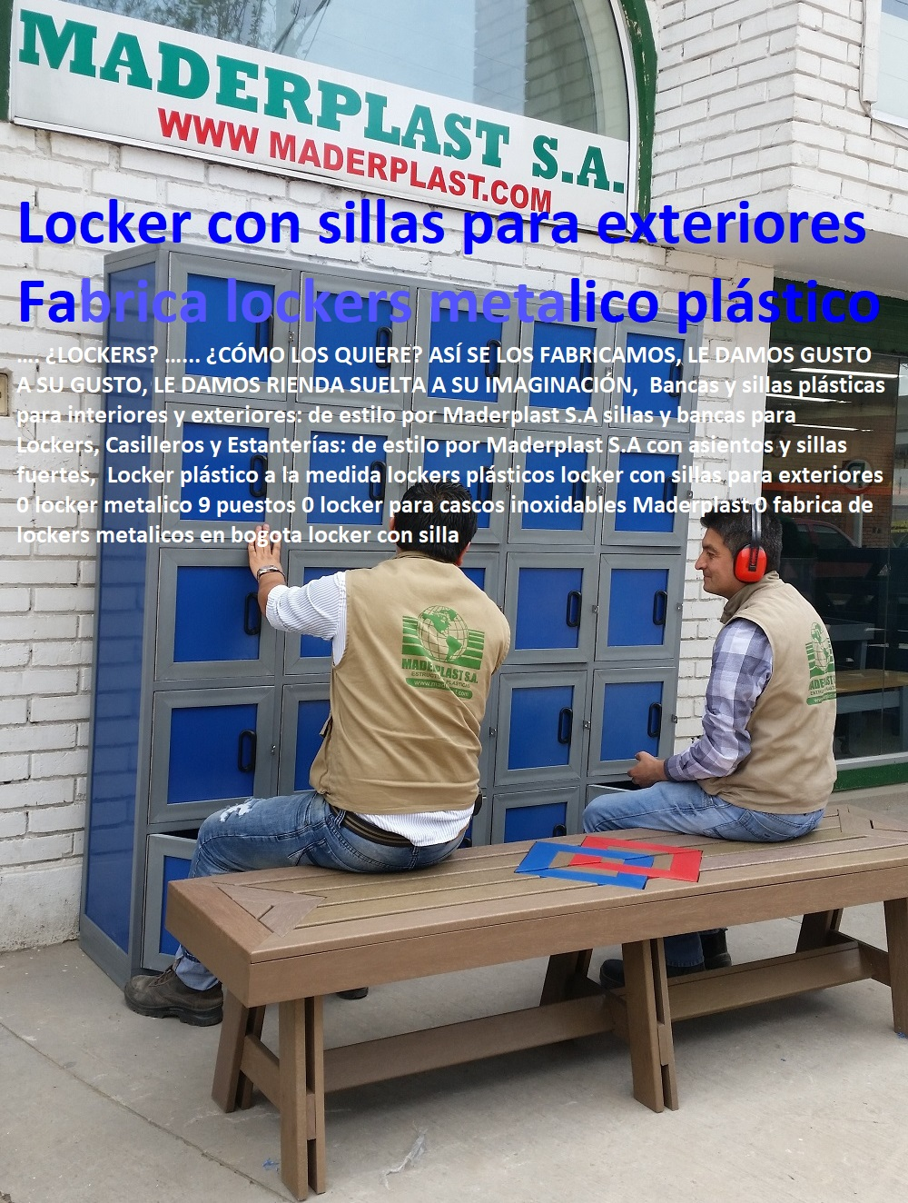 Locker plástico a la medida lockers plásticos locker con sillas para exteriores 0 locker metalico 9 puestos 0 locker para cascos inoxidables Maderplast 0 fabrica de lockers metalicos en bogota locker con silla Locker plástico a la medida lockers plásticos locker con sillas para exteriores 0 locker metalico 9 puestos 0 locker para cascos inoxidables Maderplast 0 fabrica de lockers metalicos en bogota locker con silla