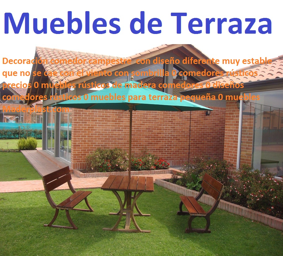 17 mesa y sillas para exteriores pl sticos con parasoles for Modelos de terrazas rusticas