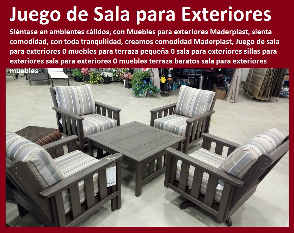 17 mesa y sillas para exteriores pl sticos con parasoles for Muebles para intemperie