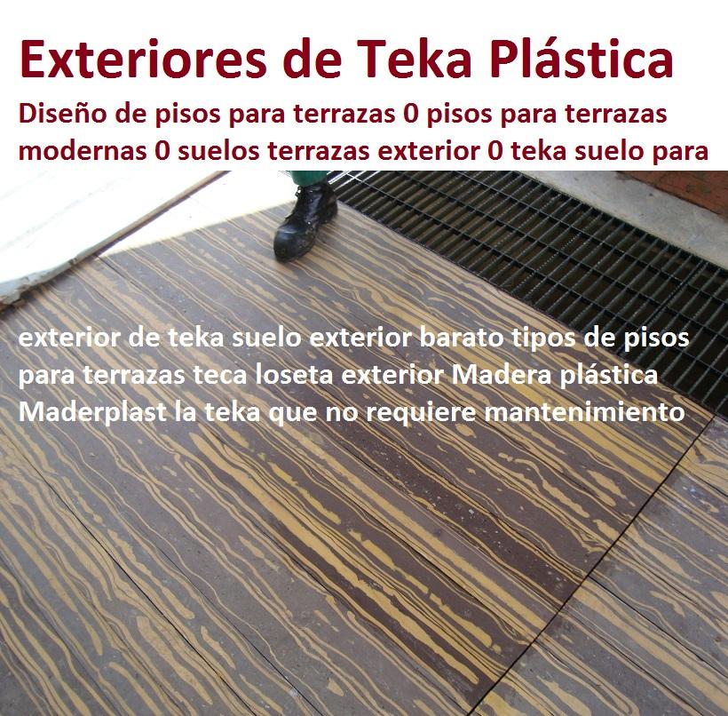 20 pisos decorativos madera pl stica finas maderas de for Pisos de loseta para exteriores