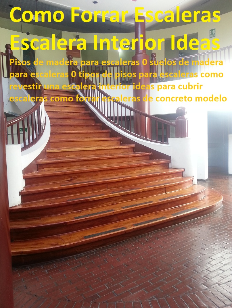 20 pisos decorativos madera pl stica finas maderas de for Ideas para forrar escaleras