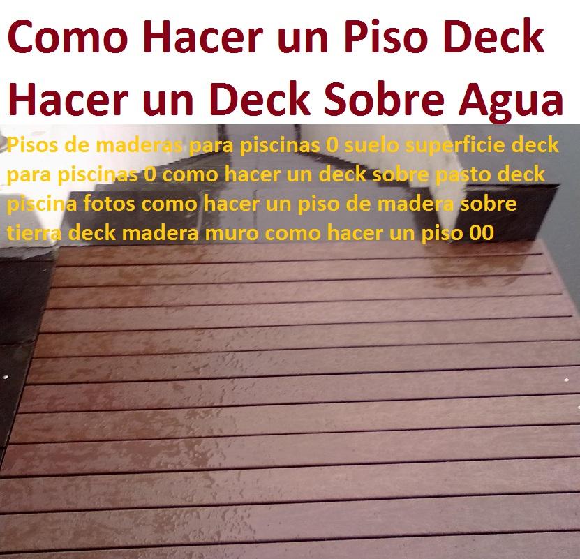 20 pisos decorativos madera pl stica finas maderas de for Cubre piscinas desmontables