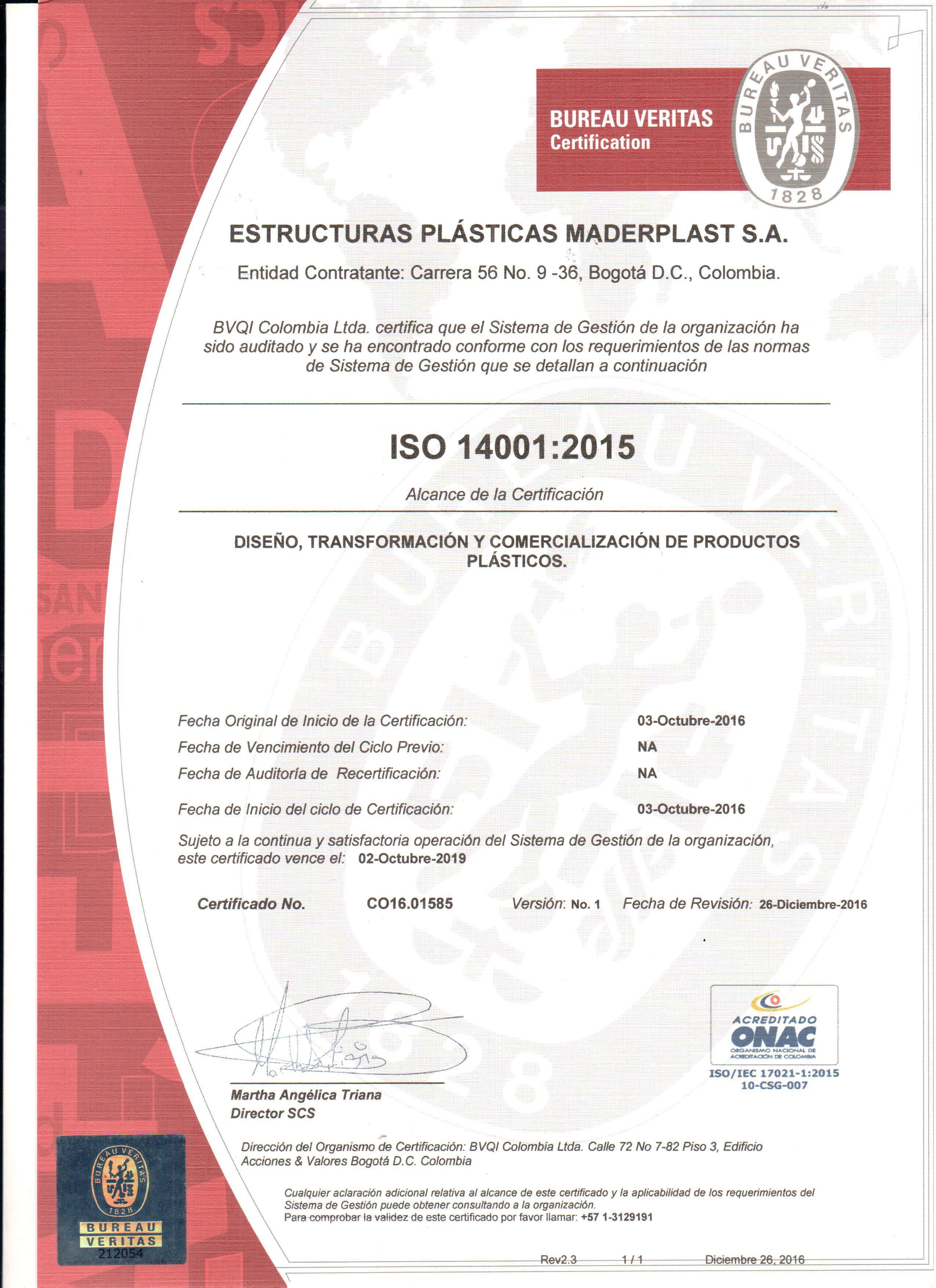 CERTIFICADOS DE PROTECCIÓN DEL MEDIO AMBIENTE  ISO 14001 DISEÑO Y DESARROLLO DE PRODUCTOS CERTIFICADOS DE PROTECCIÓN DEL MEDIO AMBIENTE  ISO 14001 DISEÑO Y DESARROLLO DE PRODUCTOS