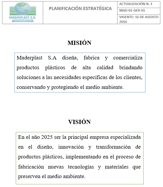 00 INSTITUCIONAL MADERPLAST MISIÓN Y VISIÓN VALORES CORPORATIVOS SISTEMAS DE CALIDAD ISO 9000 9001 14001 PREMIOS 00 INSTITUCIONAL MADERPLAST MISIÓN Y VISIÓN VALORES CORPORATIVOS SISTEMAS DE CALIDAD ISO 9000 9001 14001 PREMIOS 00 INSTITUCIONAL MADERPLAST MISIÓN Y VISIÓN VALORES CORPORATIVOS SISTEMAS DE CALIDAD ISO 9000 9001 14001 PREMIOS