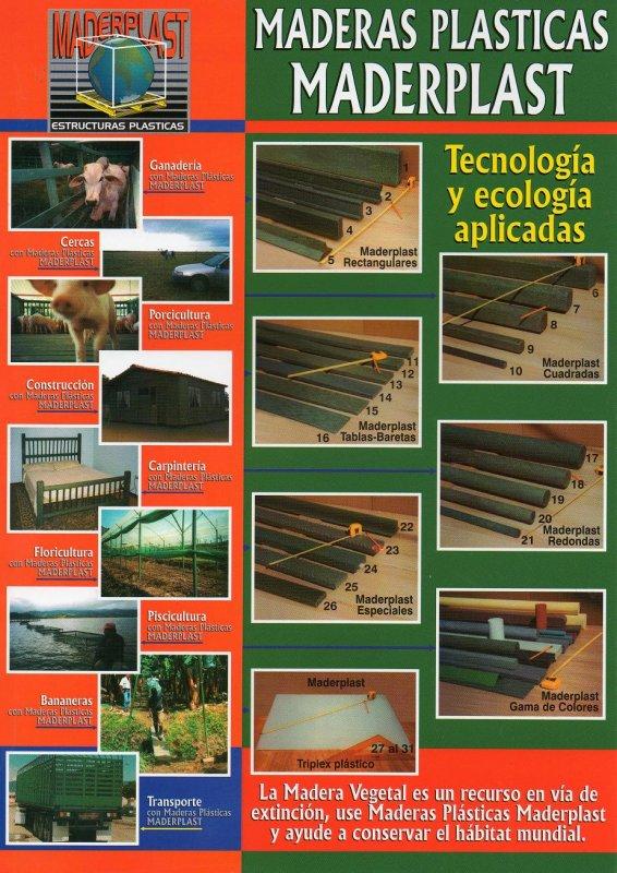 CATALOGO Y PAGINA PRODUCTOS MADERAS PLÁSTICAS MADERPLAST, Catálogo MADERAS Y PERFILES   DE MADERPLAST 2019