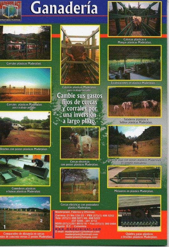 CATALOGO Y PAGINA PRODUCTOS GANADERÍAS TECNIFICADAS CON CORRALES Y ESTRUCTURAS MADERPLAST,  Catálogo CORRALES DE GANADERÍA  MADERPLAST 2019